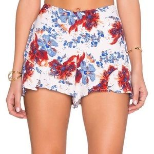 Free People Fiona Floral High Rise Shorts 8